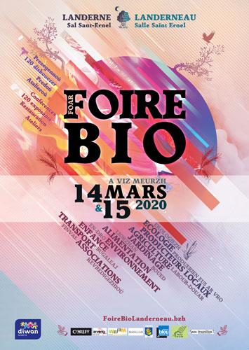 affiche Foire Bio Landerneau 14 et 15 mars